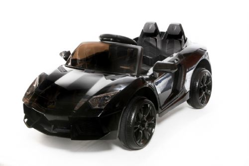 12V Black Roadster Battery Ride On Car